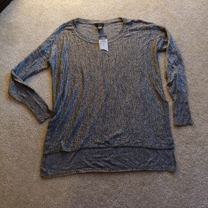 NWT rue 21 Heathered grey high low sweater top